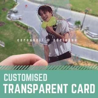 [Fansupport Goods] Transparent Clear Photocards