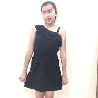 Black Shoulder Dress