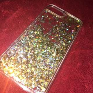 iPhone 7plus Moveable Glitter Phone Case