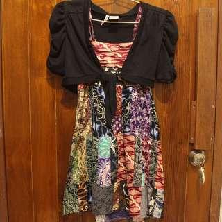 batik dress + outer