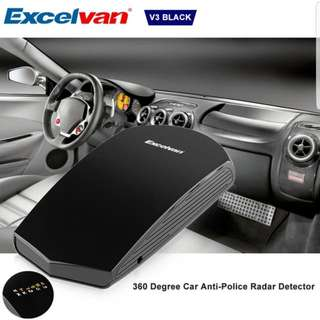 Excelvan  Car Radar Detector Vehicle  Speed Control  360 Degrees V3 LED Display Russian & English Voice  (Color: Negro)