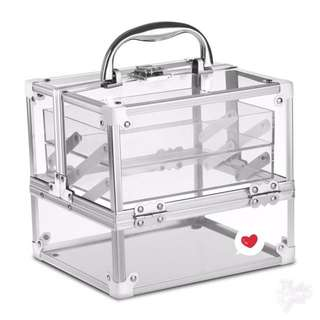 Clear Make up Traincase / Make Up organizer