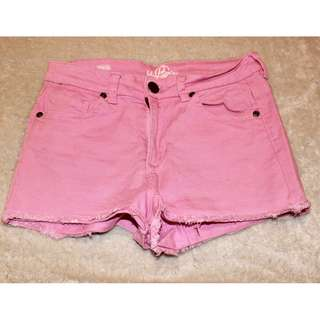 High Rise Pink Shorts