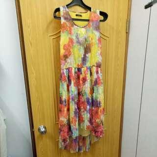 #質感#MOMA夏日暈染花朵洋裝