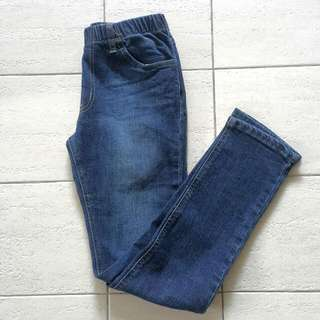 Denim Garterised Skinny Jeans
