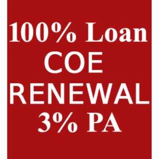 100% COE Renew Loan , Inhouse car Loan - Fast Approve