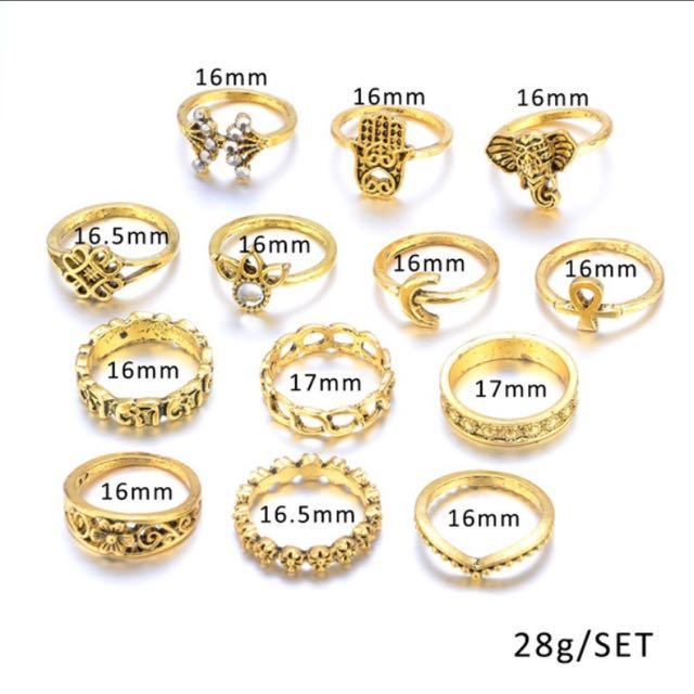 13pcs Ring Set