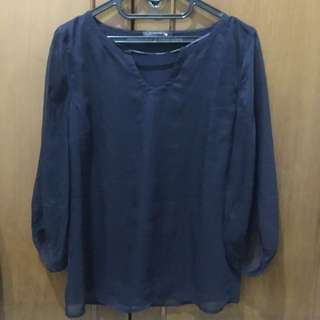 Comma Navy blouse