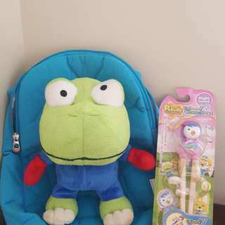 Pororo Backpack And Chopsticks