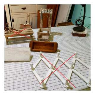 鄉村風木製 掛架 刷舊衣架