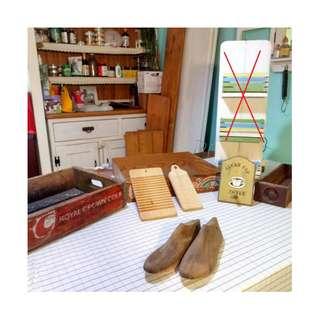 鄉村風雜貨 信件刷舊掛架  可樂箱 擺飾拍照小木箱