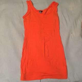 Long Orange Galssons Singlet