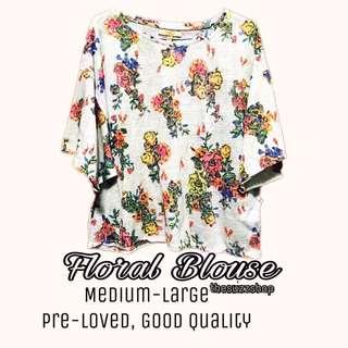 Floral Blouse By Zara
