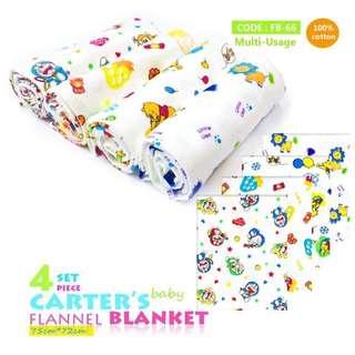 4pcs. Set Flannel Blanket