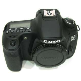 Cheap! Canon 60D body with brand new third party battery and battery grip.
