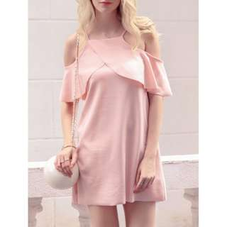 Layered Off shoulder dress