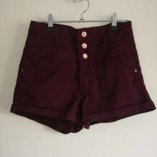 Cute Burgundy Shorts