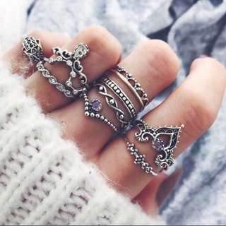 10pcs Rings Set