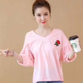 🎀New Korean Embroidered Sleeve Blouse