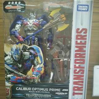 Transformers The Last Knight Calibur Optimus Prime With Limited edition Energy Sword
