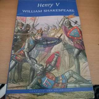 HENRY V SHAKESPEARE (FREE DELIVERY)