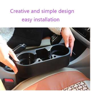 Car Seat Cup Drink Holder Cup Storage Box Holder - Black
