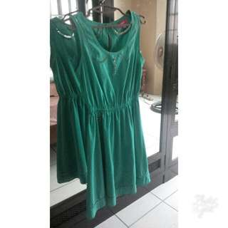 Candie's Blue-Green Collared Dress