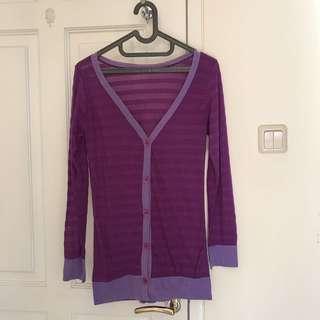 [FREE STUFF] Cardigan Panjang Purple Color