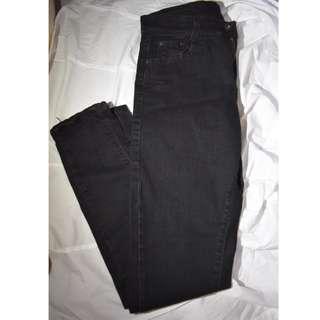 牛仔黑褲 28腰