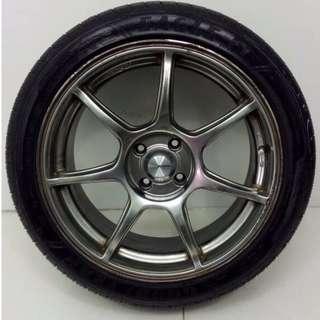 17 '' Sport Rim With Tyre 4x100 (SR572)