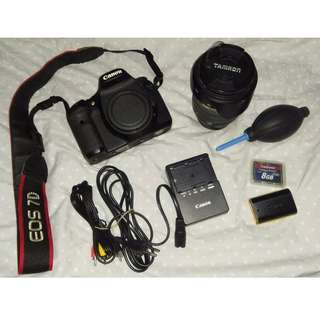 Canon 7D Body and Tamron Lens