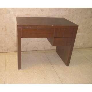 木紋實木書桌 / 電腦辦公桌 (有抽屜)