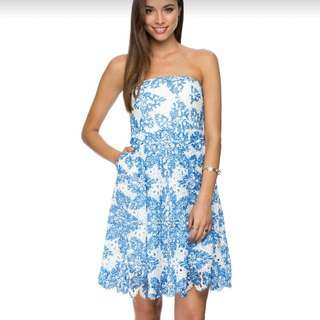 Bandeau Fit And Flare Dress