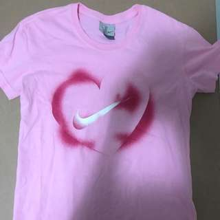 Pink Nike Top Size S