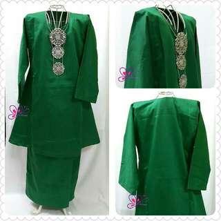 Baju Kurung Pahang Kanak-kanak Emerald Green