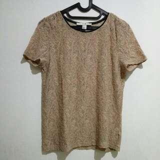 Light Brown Lace Brokat