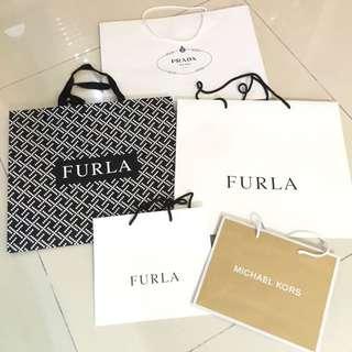 Authentic Furla Paper Bag