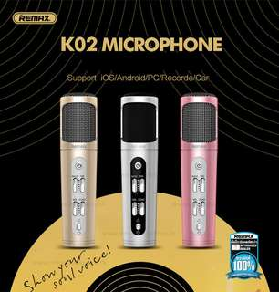 REMAX K02 BLUETOOTH MICROPHONE