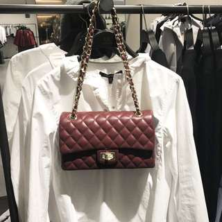 Maroon Chanel Inspired Bag