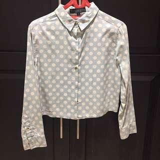 Topshop Crop Shirt Size Uk 8