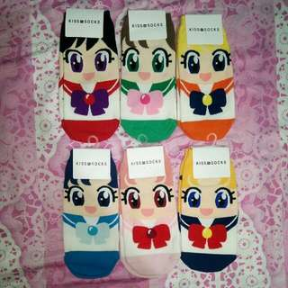 Sailor Moon Socks Set Of 6pcs