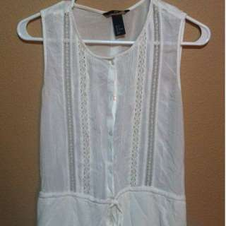 H&M White sleeveless dress