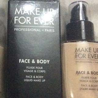 Make up forever MUFE Face and Body Liquid Foundation shade 38