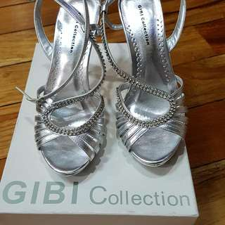 GIBI: Silver High Heel Shoes
