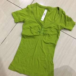 Zara Trf Like Green Top
