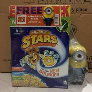 Minion Honey Star / Koko Krunch / Milo Cereal Set - 2 Cereals & 1 Minion