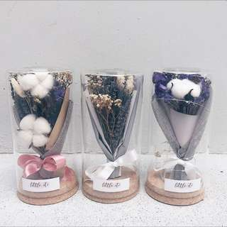 Dried Flower Glass Jar