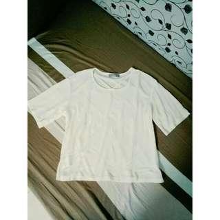 V字線米白色上衣💎