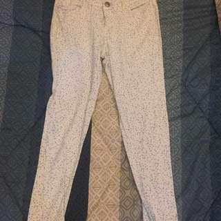 Forme White W/ Blue Print Pants