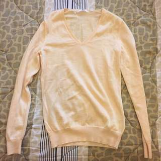 Soft Yellow Sweater UNIQLO